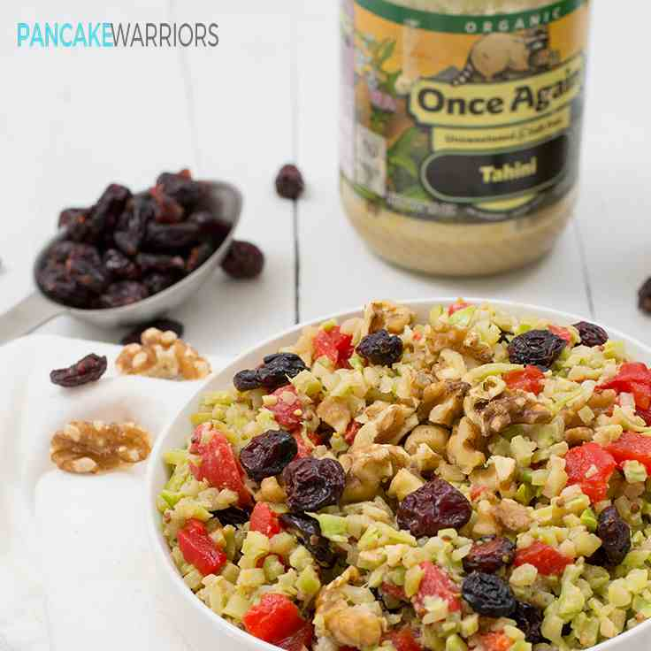 Vegan Broccoli Cranberry Walnut Salad