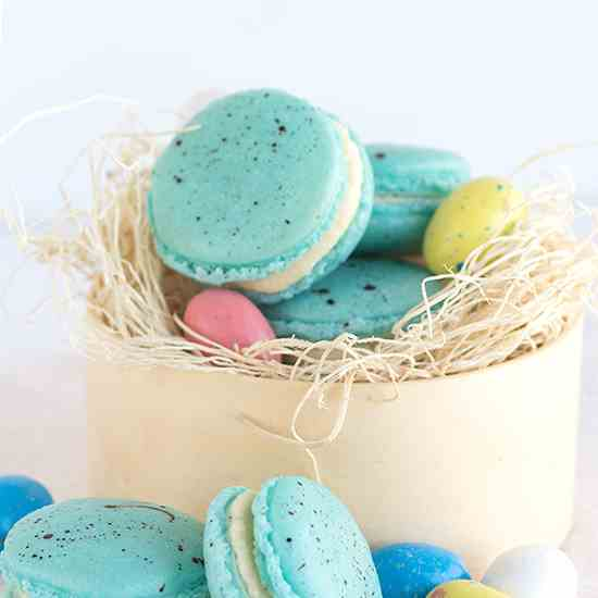 Malted Milk French Macarons