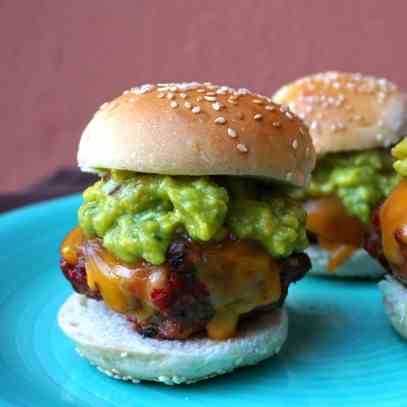 Beef, Chorizo and Guacamole Sliders