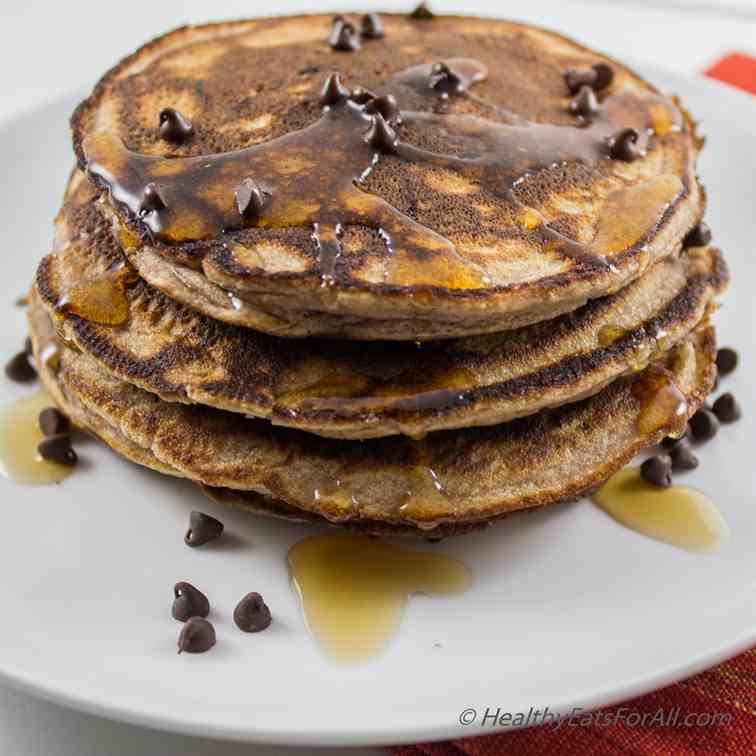 Chocolate Chip Protein Pancakes