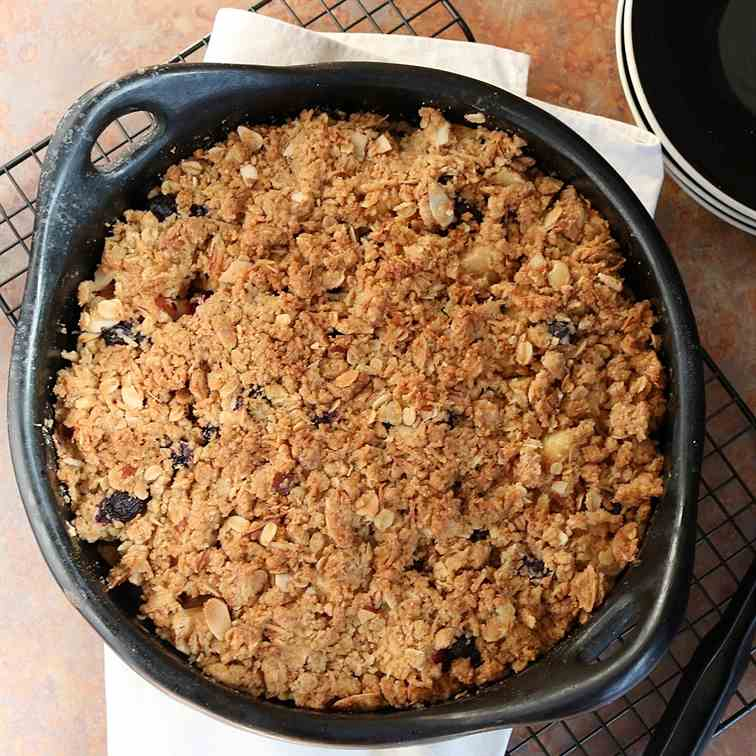 Apple - Blueberry Oaty Crumble