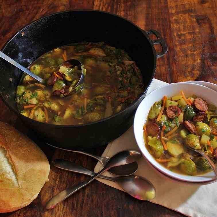 Hearty Brussels Sprout Soup