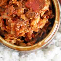 Lazy Unstuffed Cabbage Skillet