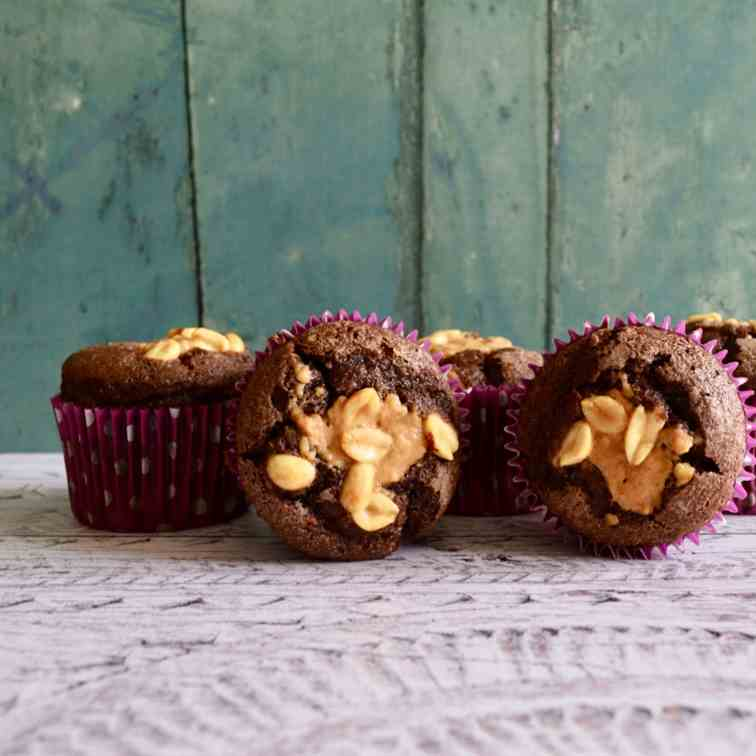 Chocolate Peanut Muffins