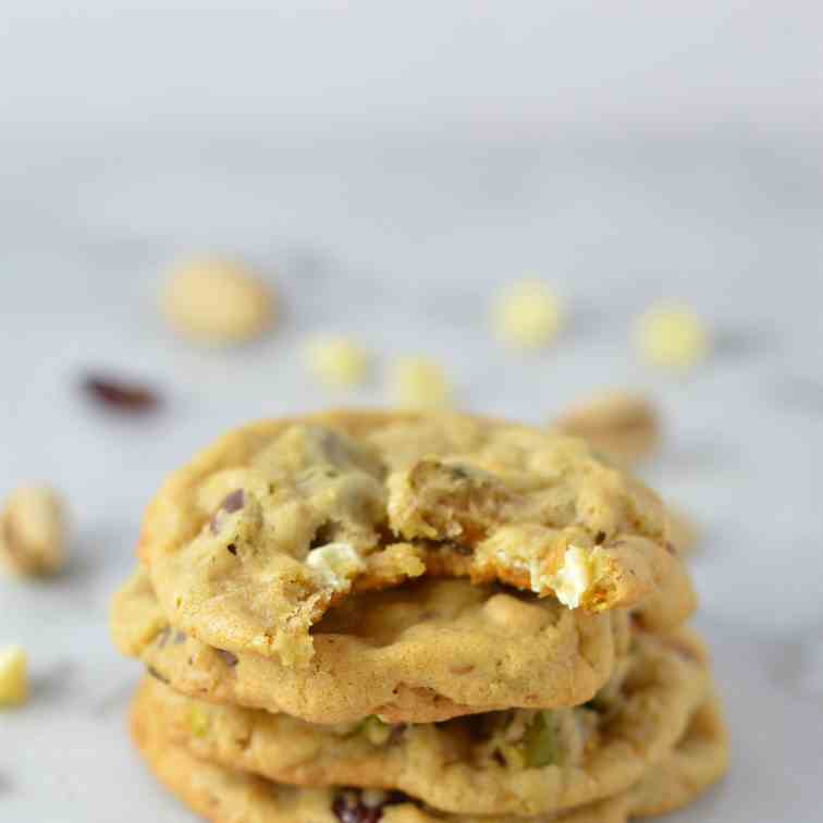 Cranberry Pistachio White Chocolate Cookie