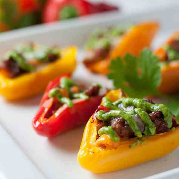 Taco Stuffed Mini Peppers