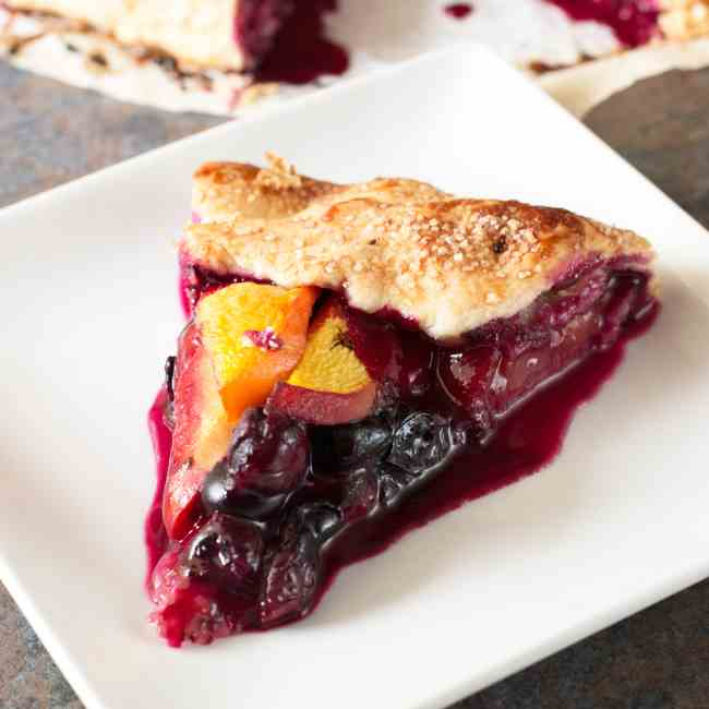 Peach - Blueberry Galette