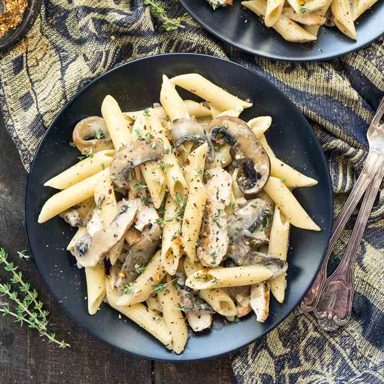 Creamy Portobello and Mascarpone Pasta