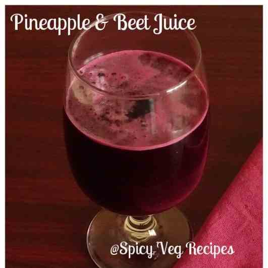 Beet and Pineapple Juice