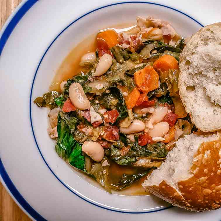 Escarole And Beans With Pancetta