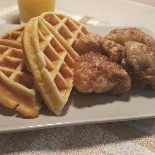 Cinna Maple Glazed Chicken and Waffles