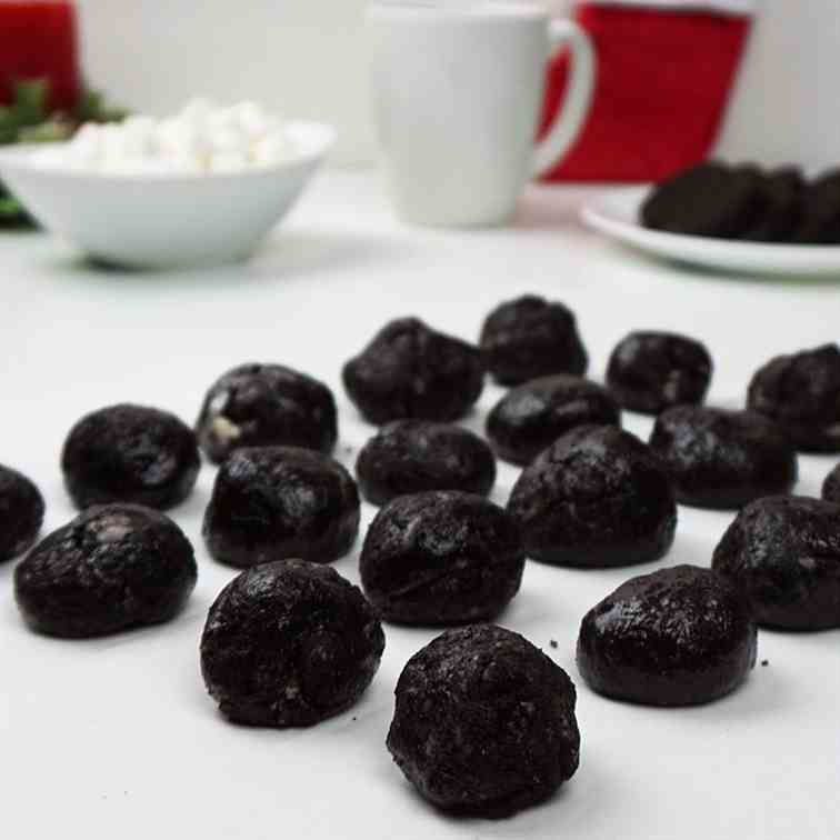Cookies and cream -lumps of coal-