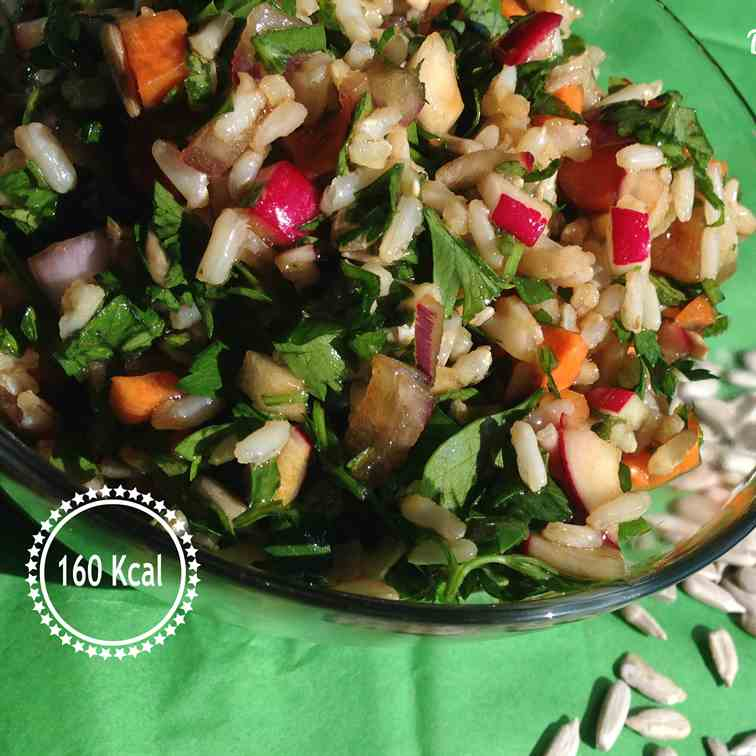"Brown rice ""tabbouli"" salad"