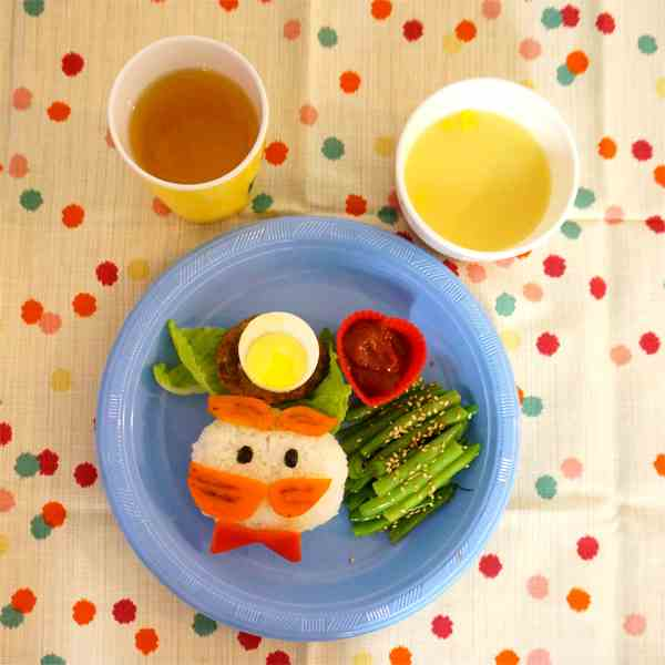 Little Man Mustache dinner plate