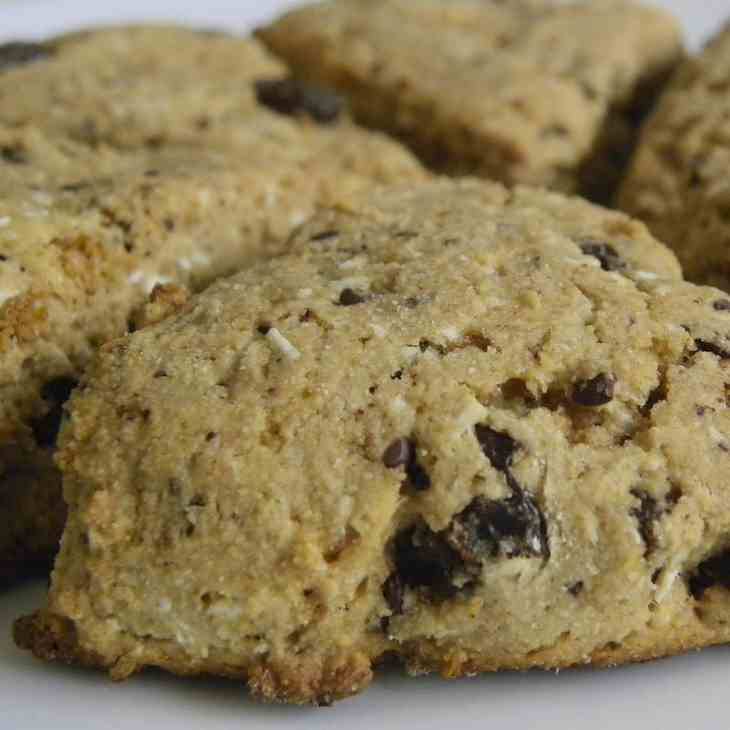 Healthy Coconut Chocolate Chip Scones