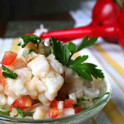 Dishfolio eat share drool for Fish ceviche recipe
