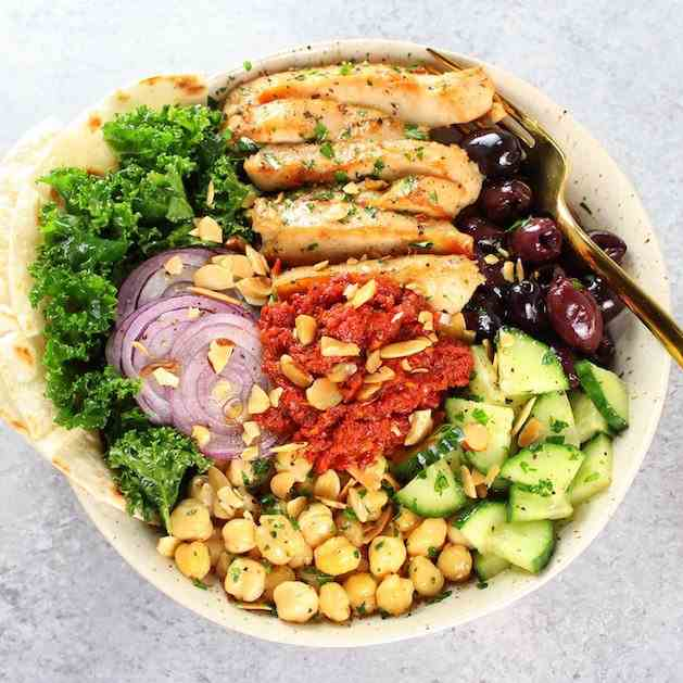 Chicken Kale Energy Bowl