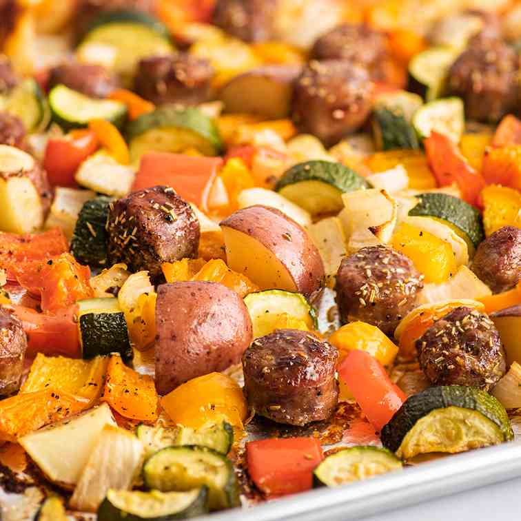 Sheet Pan Sausage and Veggies