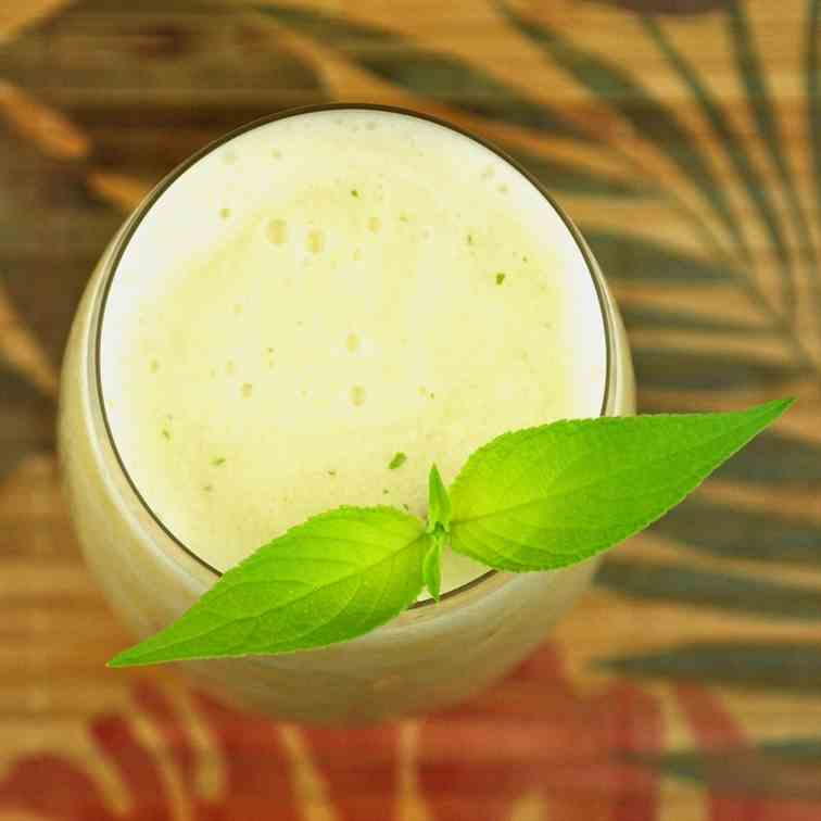 Blended Tropical Banana Cocktail