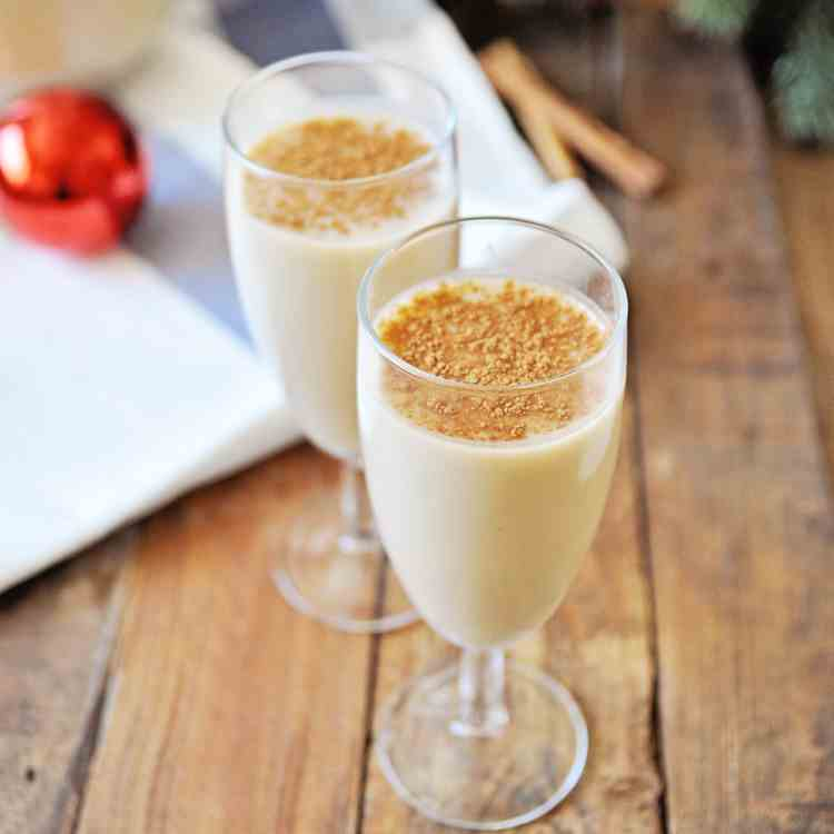 Homemade Eggnog with Spanish Brandy