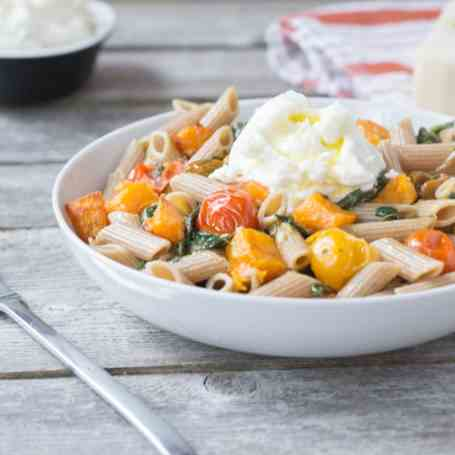 Pasta with Roasted Butternut Squash