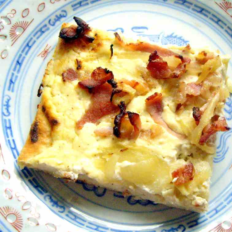 Flammkuchen from Alsace