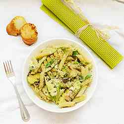 ricotta pasta salad with grilled zucchini