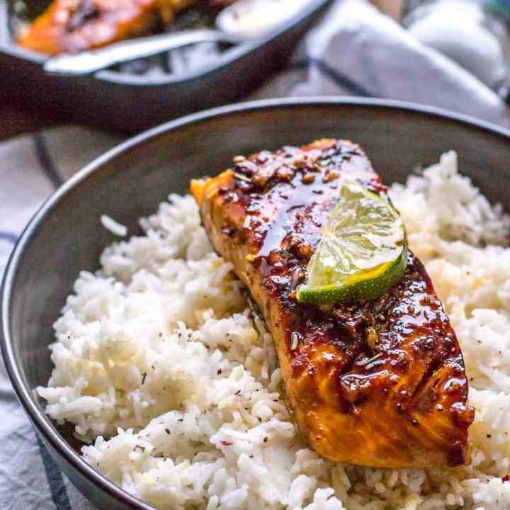 Grilled Honey Garlic Salmon