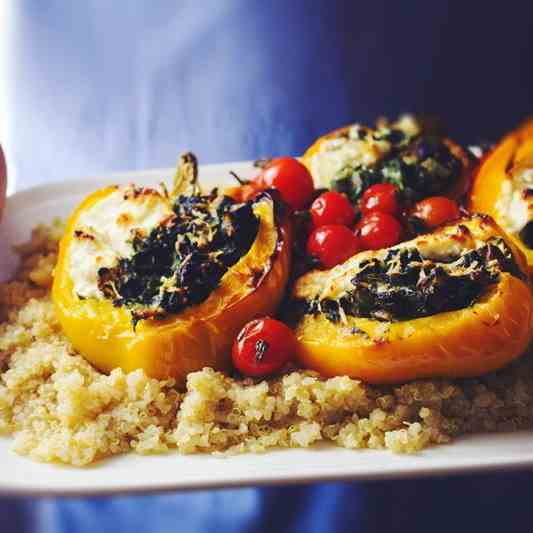 Roasted Stuffed Bell Peppers