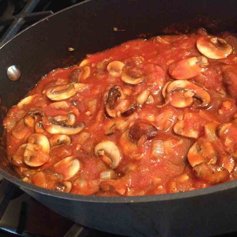 Tomato Sauce with Porcini Mushrooms