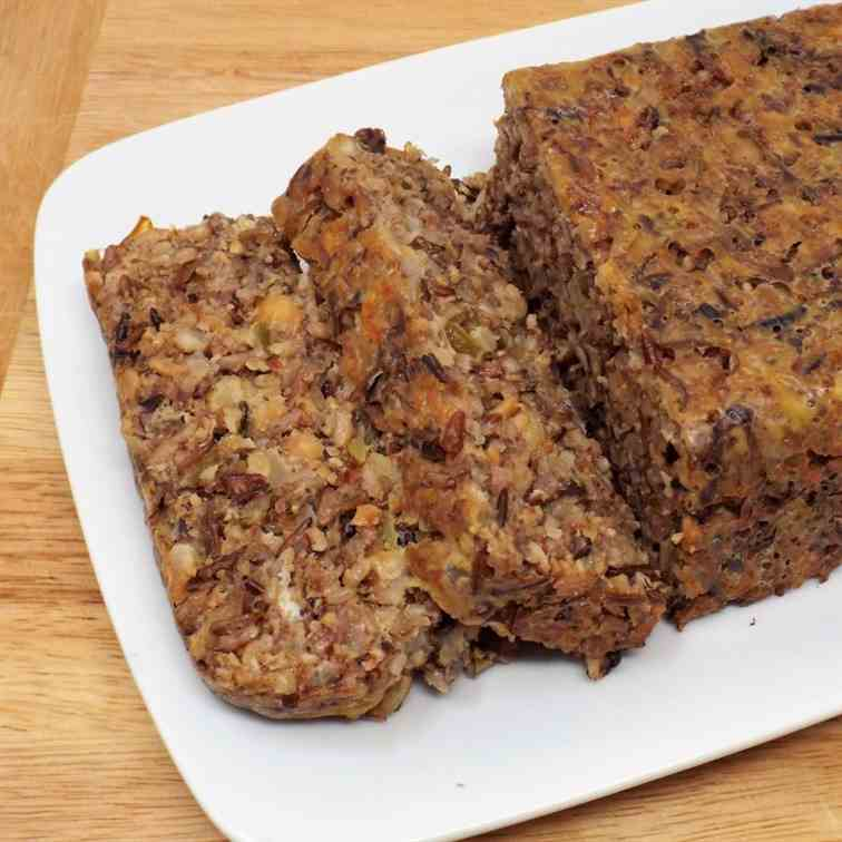 Nut Roast with Wild Rice and Mushrooms