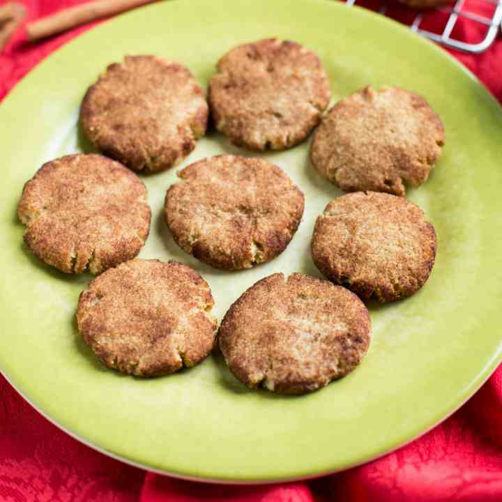 Keto Low Carb Snickerdoodle Cookies
