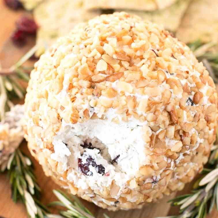 Cranberry Walnut Goat Cheese Ball