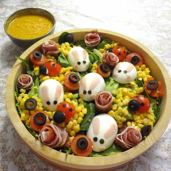 Ginger dressing and Easter Salad