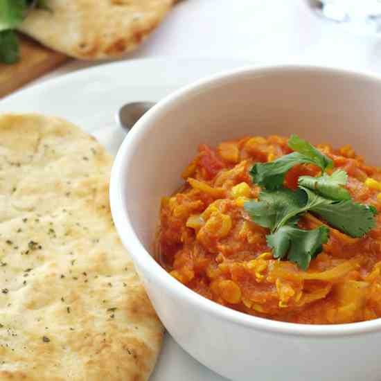 Red lentil & yellow split pea curry