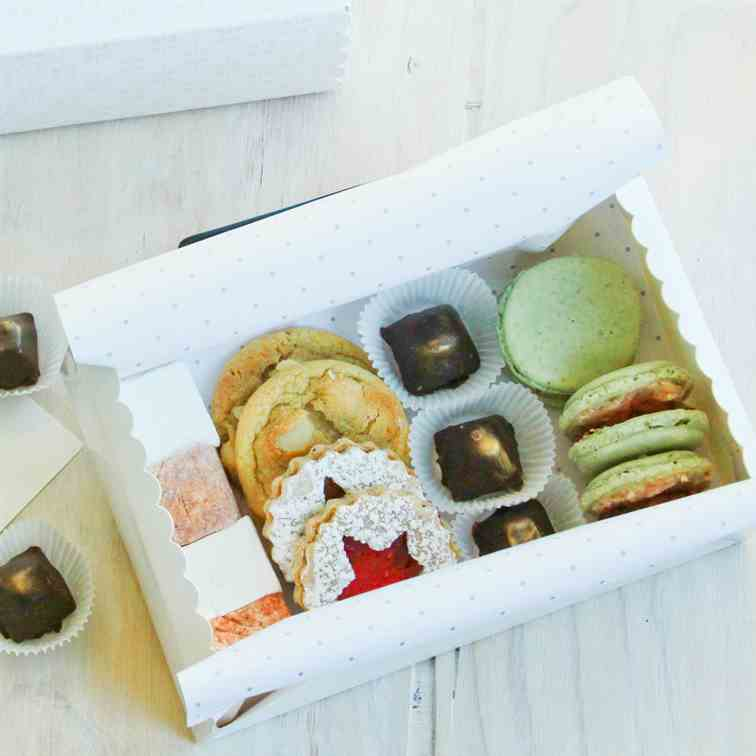 Treat Boxes with Pistachio Macarons