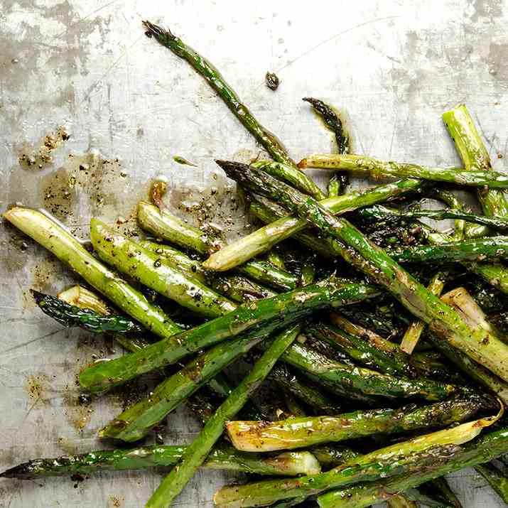 Brown Butter Roasted Asparagus