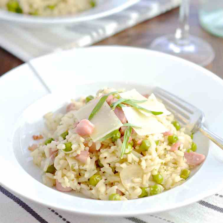 Pancetta, Pea - Manchego Cheese Risotto