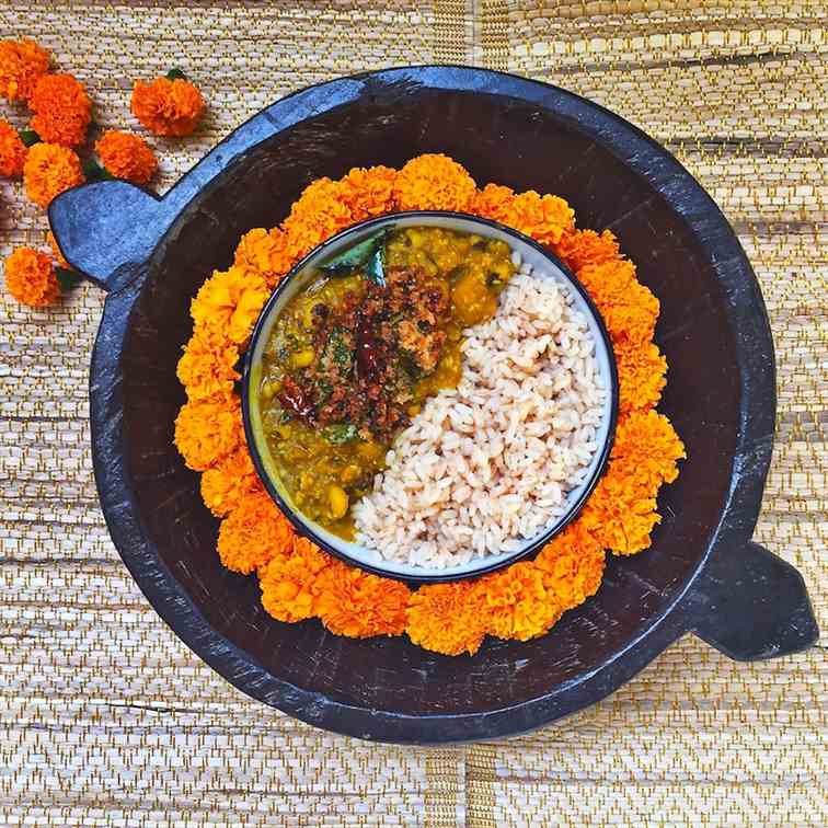 pumpkin and black-eyed peas coconut curry