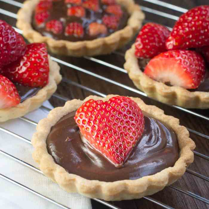Strawberry - Champagne Truffle Tarts