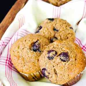 Wholemeal, Blueberry and Banana Muffins