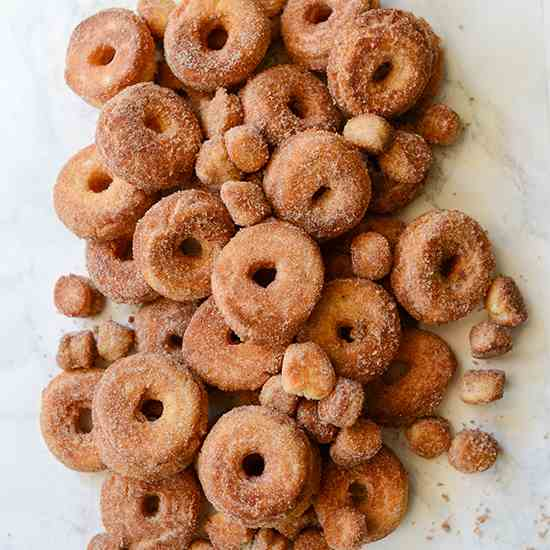 Cake Doughnuts with Cinnamon Sugar
