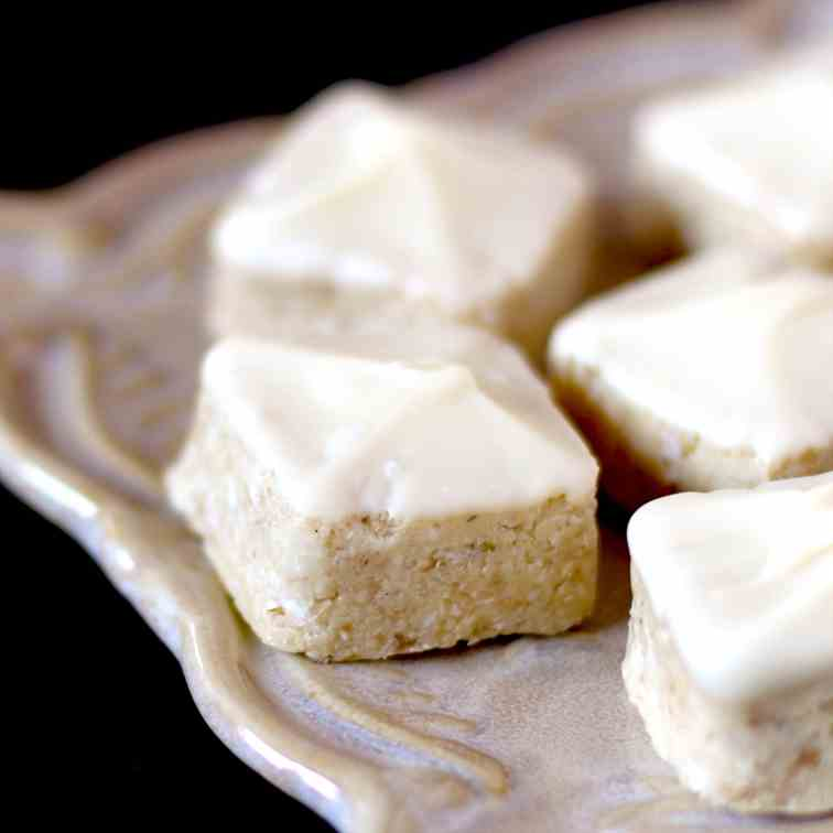 White Chocolate Coconut Petit Fours