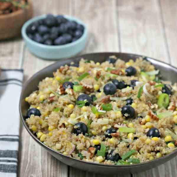 Quinoa Pilaf with Corn - Blueberries
