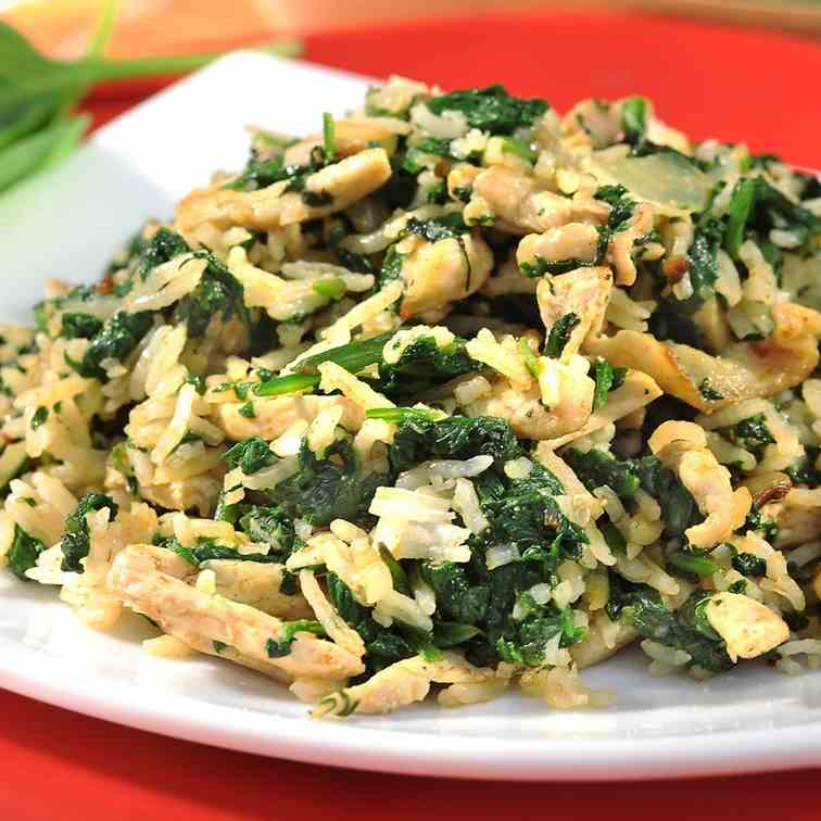 Mushrooms-Spinach Risotto
