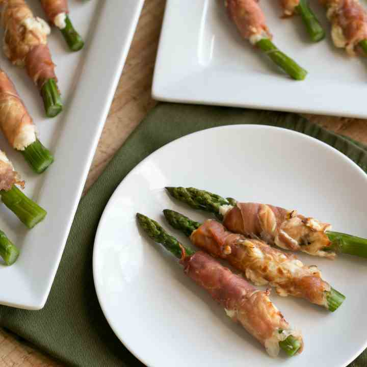Prosciutto Wrapped Asparagus Cream Cheese