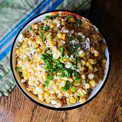 Mexican Street-Style Sweet Corn