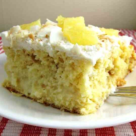 Coconut Pineapple Tres Leches Cake