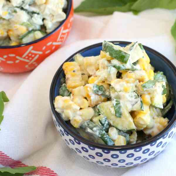 Mexican Grilled Corn - Zucchini Salad