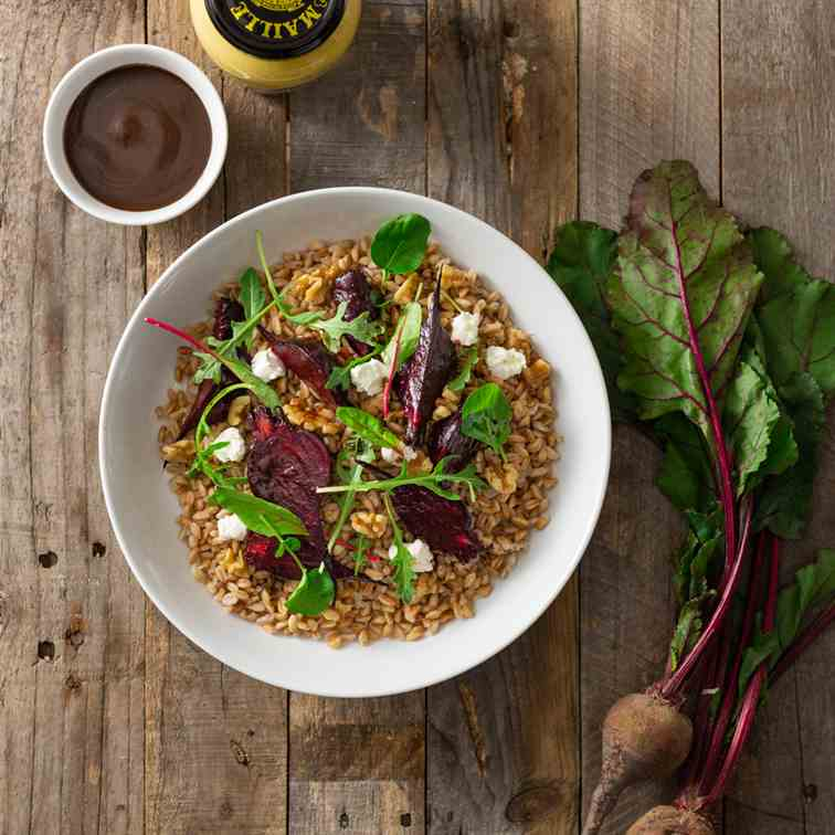 Farro with Beets and Goat Cheese